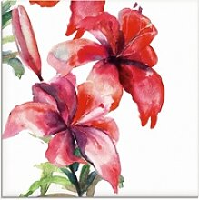 Artland Glasbild Lilien, Blumen (1 Stück) 40 cm x