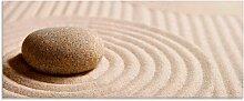 Artland Glasbild Mini Zen Garten - Sand 125x50 cm