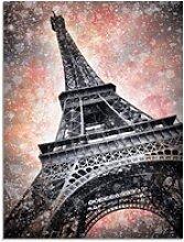 Artland Glasbild Modern Art Eiffelturm, Gebäude