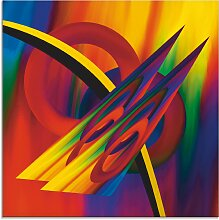 Artland Glasbild Modern Bunt 50x50 cm, bunt