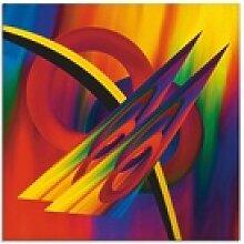 Artland Glasbild Modern Bunt, Muster (1 Stück) 50