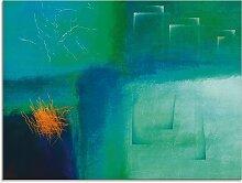 Artland Glasbild Modern III 60x45 cm, blau