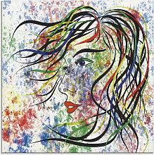 Artland Glasbild Modern Porträt 40x40 cm, bunt