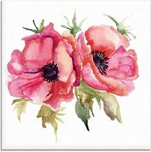 Artland Glasbild Mohnblumen, Blumen (1 Stück) 20
