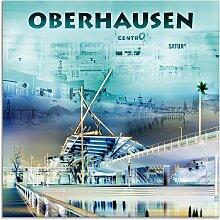 Artland Glasbild Oberhausen Skyline Abstrakte