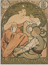 Artland Glasbild Plakat für Société Populaire