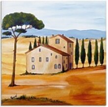Artland Glasbild Toskana modern 1, Europa (1