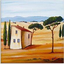 Artland Glasbild Toskana modern 2 20x20 cm, braun