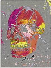 Artland Glasbild Totenkopf 2, Körper, (1 St.)