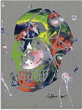 Artland Glasbild Totenkopf, Körper, (1 St.)