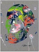 Artland Glasbild Totenkopf, Körper (1 Stück) 45