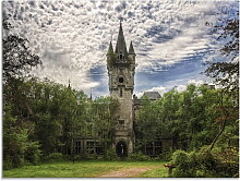 Artland Glasbild Verlassenes Schloß Chateau -
