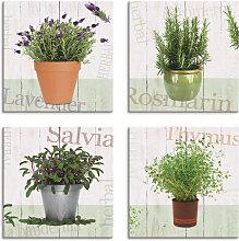 Artland Leinwandbild Lavendel, Rosmarin, Salbei,