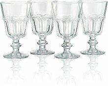 Artland Pearl Ridge Wein Kelche, klar, Set 4