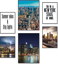 Artland Poster Die Metropole New York, Amerika, (6