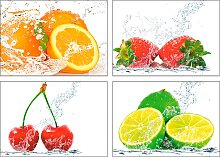 Artland Poster Früchte mit Spritzwasser 29,7x21