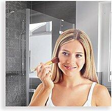 Artland Qualitätsspiegel I Wandspiegel 50 x 50 cm Spiegel 5 mm Dick Rahmenlos mit Aufhängevorrichtung B8JP