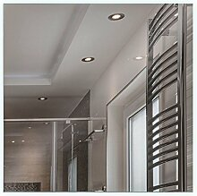 Artland Qualitätsspiegel I Wandspiegel 50x50 cm beleuchteter Spiegel mit LED tageslicht rahmenlos modernes Design – Hochwertig - Badezimmerspiegel B8JP