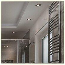 Artland Qualitätsspiegel I Wandspiegel 70x70 cm beleuchteter Spiegel mit LED warmlicht rahmenlos modernes Design – Hochwertig - Badezimmerspiegel B8JP