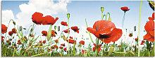 Artland Schlüsselbrett Feld mit Mohnblumen unter