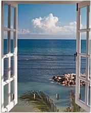 Artland Schlüsselbrett Fenster zum Paradies