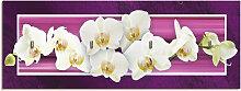 Artland Schlüsselbrett Orchideen, aus Holz mit 4