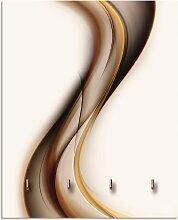 Artland Schlüsselbrett Welle, aus Holz mit 4