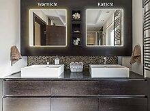 Artland Wand-Bad-Spiegel mit indirekter LED Beleuchtung 5mm Stärke mit Steil Facette in verschiedenen Größen Wandspiegel 5 mm dick mit Steilfacette B8JP