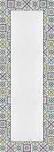 Artland Wand-Flur-Spiegel mit 25mm Facetten-Schliff Deko Modell-Rahmen digital bedruckt Motiv Wen Dy Orientalischer Traum Abstrakte Motive Muster geometrische Formen Digitale Kunst Bun