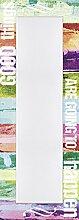 Artland Wand-Flur-Spiegel mit 25mm Facetten-Schliff Deko Modell-Rahmen digital bedruckt Motiv Jule Gute Dinge werden passieren Statement Bilder Sprüche Texte Digitale Kunst Bunt 140,4x50,4x1,6 cm A7ND