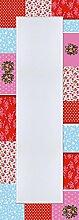 Artland Wand-Flur-Spiegel mit 25mm Facetten-Schliff Deko Modell-Rahmen digital bedruckt Motiv Jule Patchwork in Rot Abstrakte Motive Muster Digitale Kunst Bunt 140,4 x 50,4 x 1,6 cm A7HQ