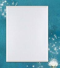 Artland Wand-Flur-Spiegel mit 25mm Facetten-Schliff Deko Modell-Rahmen digital bedruckt Motiv Vadim Georgiev Magie der Lotus-Blume türkis Blumen Seerose Digitale Kunst Blau 100,4x80,4x1,6 cm A7KR