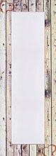 Artland Wand-Flur-Spiegel mit 25mm Facetten-Schliff Deko Modell-Rahmen digital bedruckt Motiv Weißer Vintage-Hintergrund auf natürlich, alter Holzwand mit Herz Foto Creme 140,4x50,4x1,6 cm A7MV