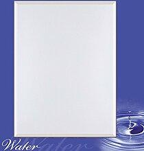 Artland Wand-Flur-Spiegel mit 25mm Facetten-Schliff Deko Modell-Rahmen digital bedruckt Motiv Peter Wienerroither Wassertropfen Wellness Zen Wasser Fotografie Blau 100,4 x 80,4 x 1,6 cm A5KT