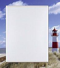 Artland Wand-Flur-Spiegel mit 25mm Facetten-Schliff Deko Modell-Rahmen digital bedruckt Motiv fotopro Leuchtturm Sylt Architektur Gebäude Leuchtturm Fotografie Blau 100,4 x 80,4 x 1,6 cm A6GN