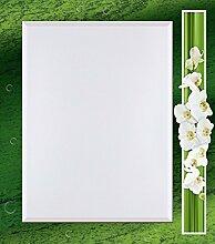 Artland Wand-Flur-Spiegel mit 25mm Facetten-Schliff Deko Modell-Rahmen digital bedruckt Motiv W. L. Orchideen - grün Botanik Blumen Orchidee Digitale Kunst Grün A6UJ
