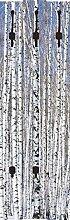 Artland Wand-Garderobe mit Motiv 3 Holz-Paneele mit gusseisernen Haken Axl_Images Winterbirkenwald Wintergelassenheit Botanik Bäume Laubbaum Fotografie Schwarz/Weiß 140 x 45 x 2,8 cm