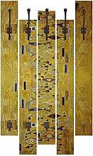 Artland Wand-Garderobe mit Motiv 5 Holz-Paneele
