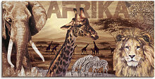 Artland Wandbild Afrika, Wildtiere, (1 St.), in