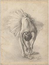 Artland Wandbild Antike Ballerina Übung I 30x40