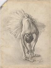 Artland Wandbild Antike Ballerina Übung I 45x60