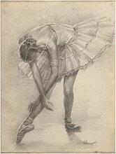 Artland Wandbild Antike Ballerina Übung II 90x120