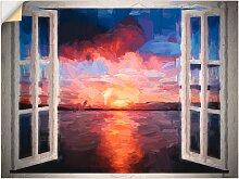 Artland Wandbild Blick aus dem Fenster 80x60 cm,