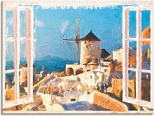 Artland Wandbild Blick durch das Fenster auf