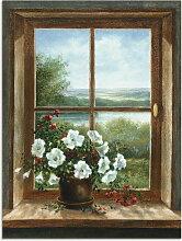Artland Wandbild Blumen am Fenster 90x120 cm,