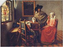 Artland Wandbild Das Glas Wein. Um 1660/61 80x60
