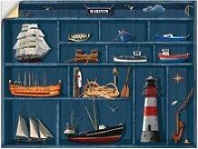 Artland Wandbild Der maritime Setzkasten,