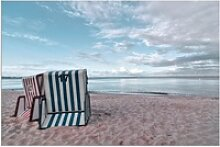 Artland Wandbild Einsame Strandkörbe am