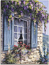 Artland Wandbild Fenster I 45x60 cm, Leinwandbild