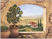 Artland Wandbild Fenster in der Toskana 40x30 cm,